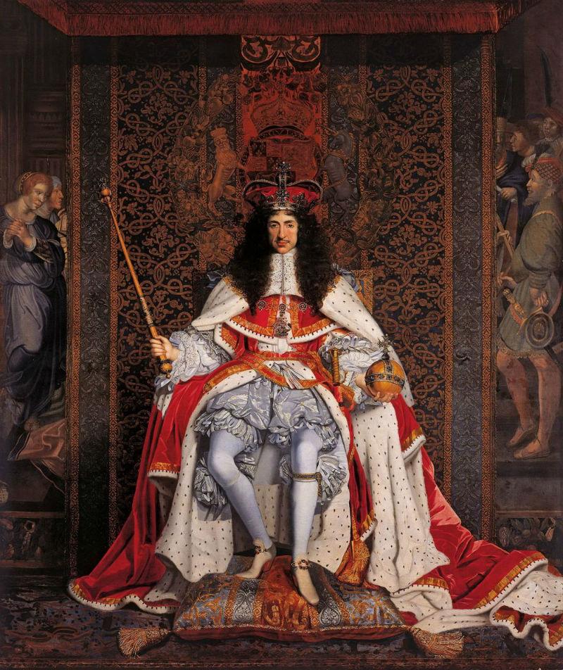 Джон Майкл Райт - Карл ІІ в коронационных одеяниях - 1666.jpg