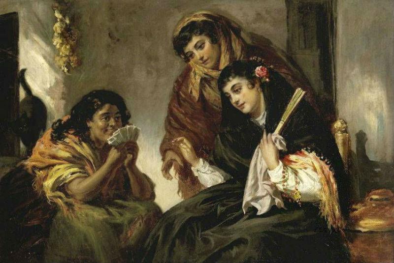 John Phillip (Scottish 1817-1867)  The Fortune Teller.jpg