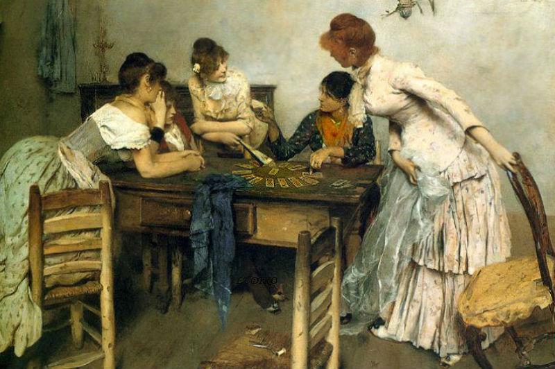 Этторе Тито - Гадалка - Ettore Tito (Italian 1859 - 1941) La Chiromante.jpg