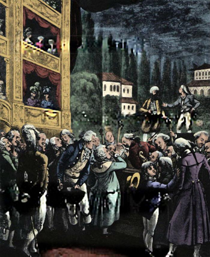 Неизвестны художник - Вольфганг Амадей Моцарт на репетиции Похищение из сераля в Берлине в 1789 году.jpg