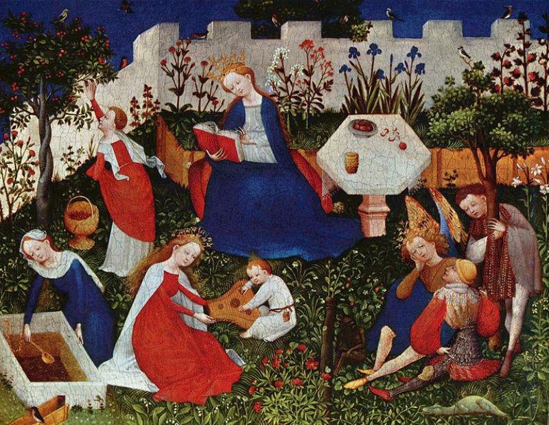 Неизвестный художник 15 века - Райский сад.jpg