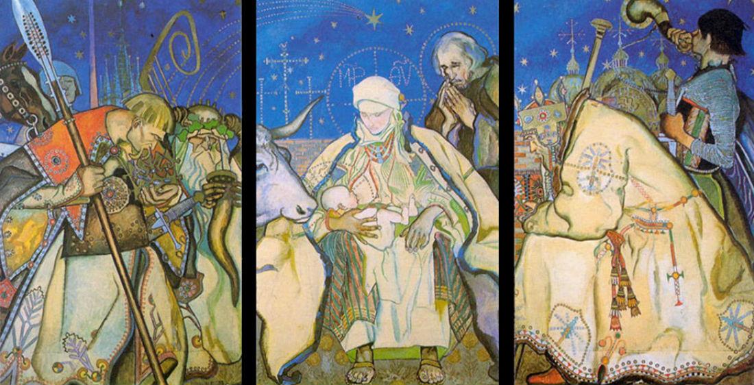 Казимеж Сичульский - Поклонение волхвов - 1913 - собрание Национального музея в Варшаве.jpg