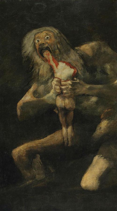 Франсиско Гойя - Сатурн пожирающий своего сына - 1819-1823.jpg