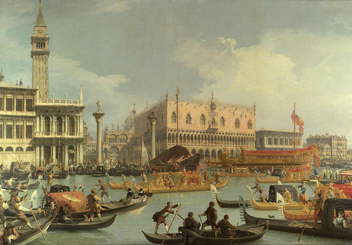 Джованни Антонио Каналь (Каналетто) - Возвращение Бучинторо к молу у Дворца дожей - (1727-1729).jpg