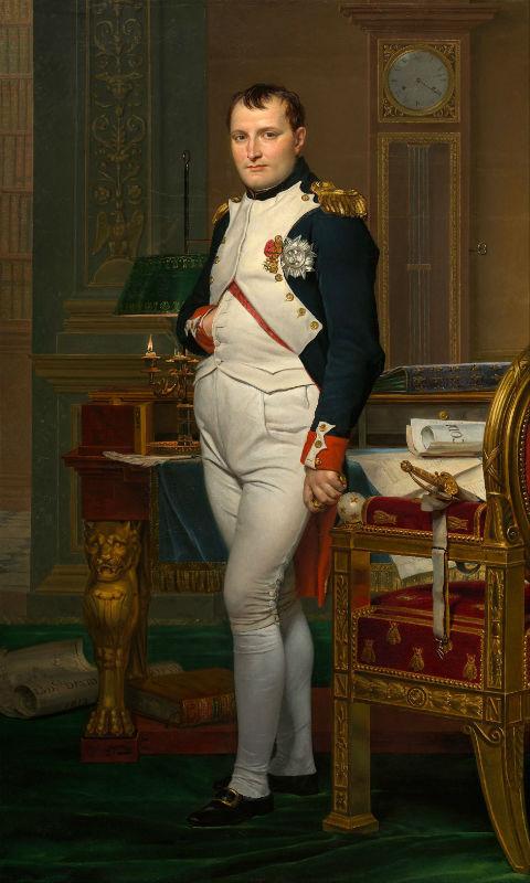 Жак Луи Давид - Портрет Наполеона в императорском кабинете.jpg