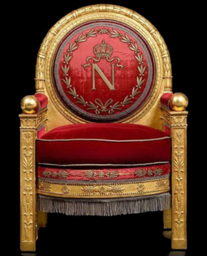 Трон Наполеона из Фонтенбло продали на аукционе за 500000 евро в 2019 году.jpg