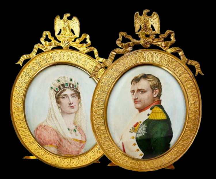 Миниатюры XIX века - Жозефина и Наполеон.jpg