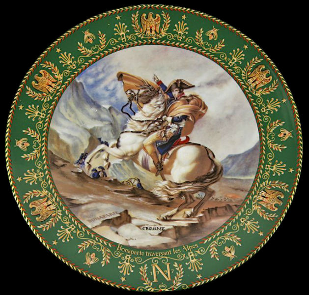 Клод Боум - тарелка Переход Наполеона через Альпы - Лимож - 1984.jpg