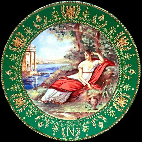 Клод Боум тарелка - Императрица Жозефина из серии Жозефина и Наполеон - Франция - Limoges Porcelain  - 1985.jpg