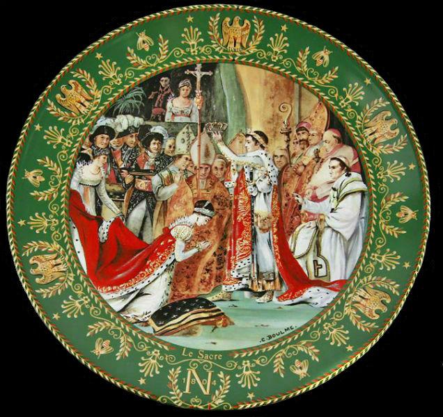 Клод Боум - тарелка Коронация Жозефины Наполеоном из серии Жозефина и Наполеон - Лимож - 1986 - (Limoges Porcelain).jpg
