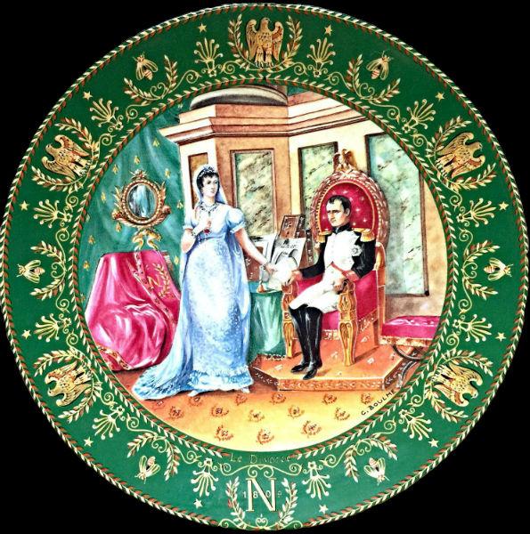 Клод Боум - тарелка из серии Жозефина и Наполеон - Лимож - 1986 - (Limoges Porcelain) - 2.jpg