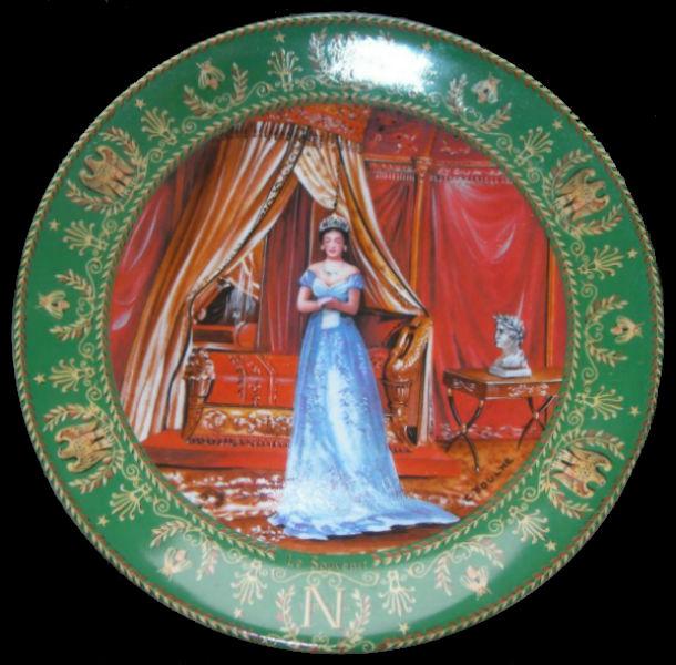 Клод Боум - тарелка Память из серии Жозефина и Наполеон - Лимож - 1986 - (Limoges Porcelain).jpg