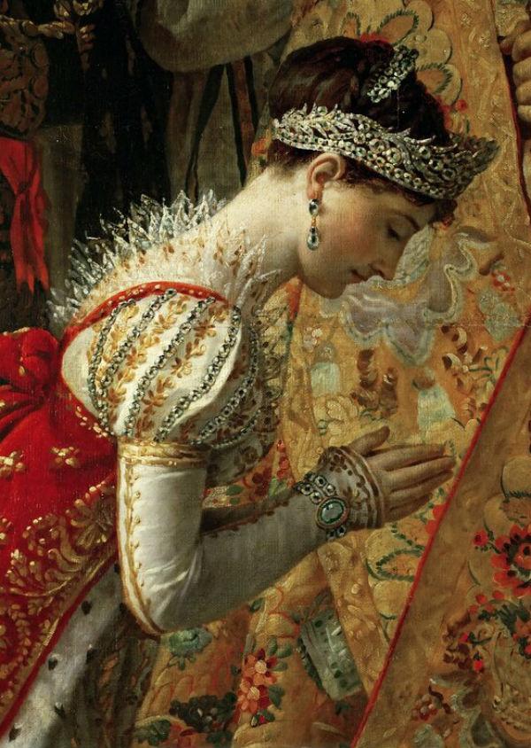 Жак Луи Давид - Коронование императора  Наполеона I и императрицы Жозефины в соборе Парижской Богоматери 2 декабря 1804 года - (1805-1808) - фрагмент…