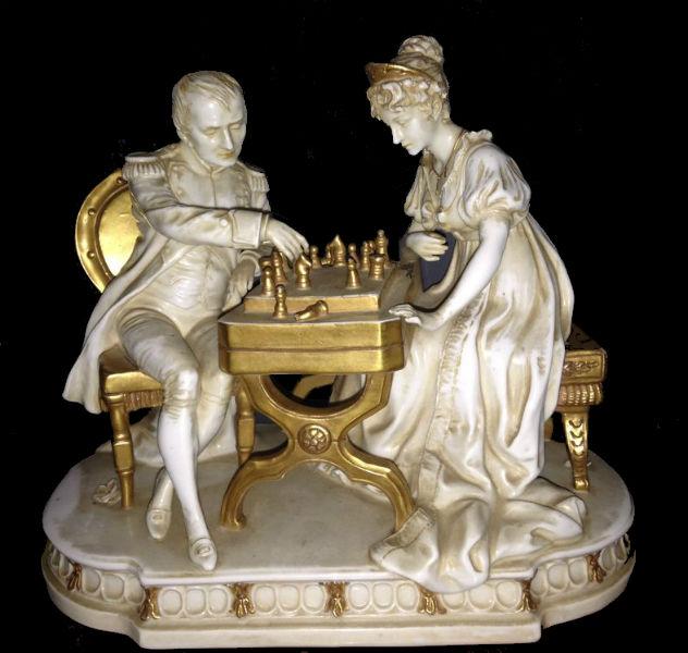 Наполеон и Жозефина за шахматным столом - Германия - (Шайбе Альсбах Scheibe-Alsbach).jpg