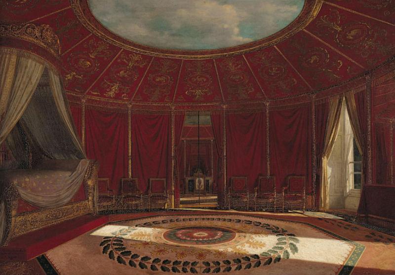 Жан-Луи Виктор Вигер дю Виньё - Спальня императрицы Жозефины в Мальмезоне - 1870 - Музей Мармоттан-Моне Париж.jpg