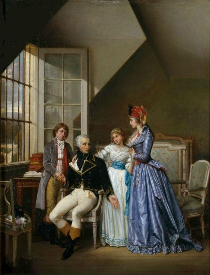 Гектор Виже - Визит Жозефины де Богарне к ее мужу Александру задержанному в Люксембургском дворце - 1867 - Замок Мальмезон.jpg