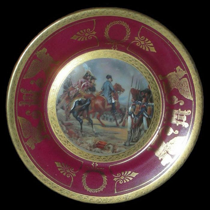 Тарелка декоративная Перед битвой при Йене - Германия - 14 октября 1806.jpg