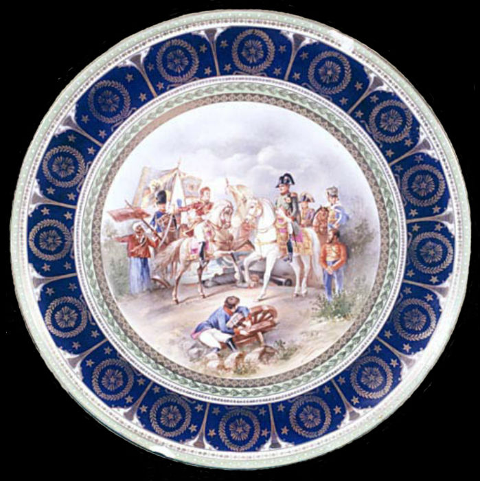 Блюдо декоративное с изображением фрагмента картины Ф Жерара «Аустерлицкое сражение».jpg