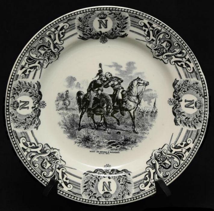Тарелка декоративная - Смерть генерала Дезе в битве при Маренго 14 июня 1800 - Бельгия - Boch Freres La Louviere.jpg