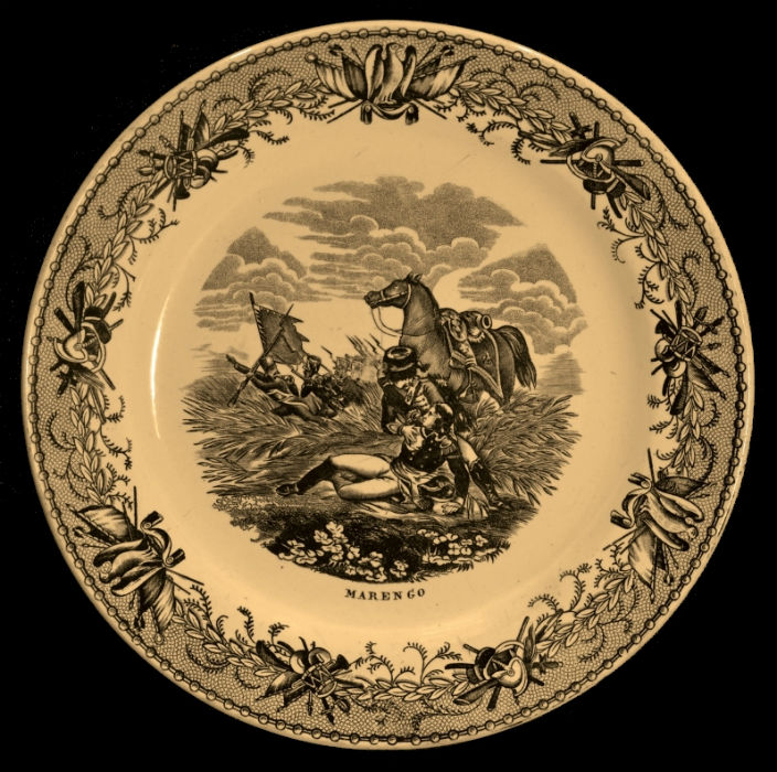 Тарелка декоративная - Битва при Маренго - J.B. Capplemans Aine Jemmapes - Бельгия - середина XIX века.jpg