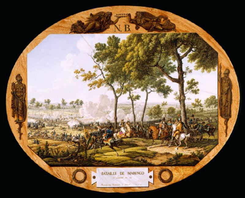 Жак-Франсуа Свебах - Картина на фарфоре Битва при Маренго.jpg