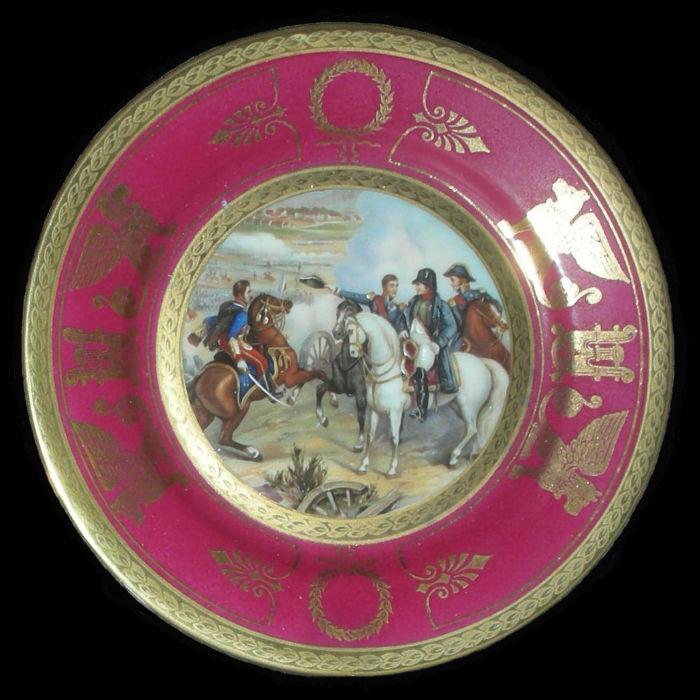 Тарелка декоративная Сражение при Гейльсберге - Германия - 29 мая 1807.jpg
