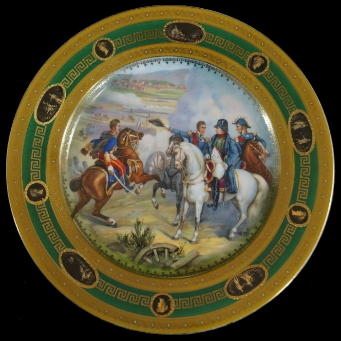 Тарелка декоративная - Сражение при Гейльсберге - Вена - Австрия - 1891-1918.jpg