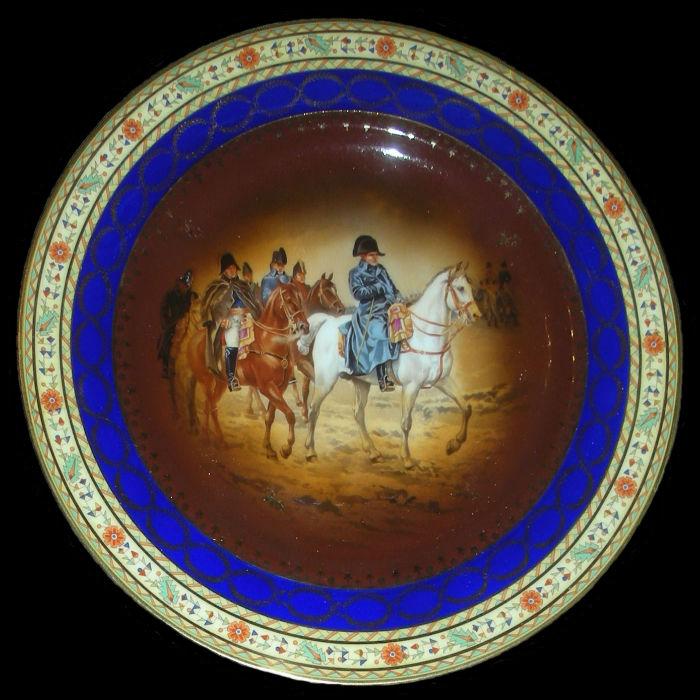 Тарелка декоративная Кампания во Франции 1814 года - Чехословакия (Карлсбад).jpg