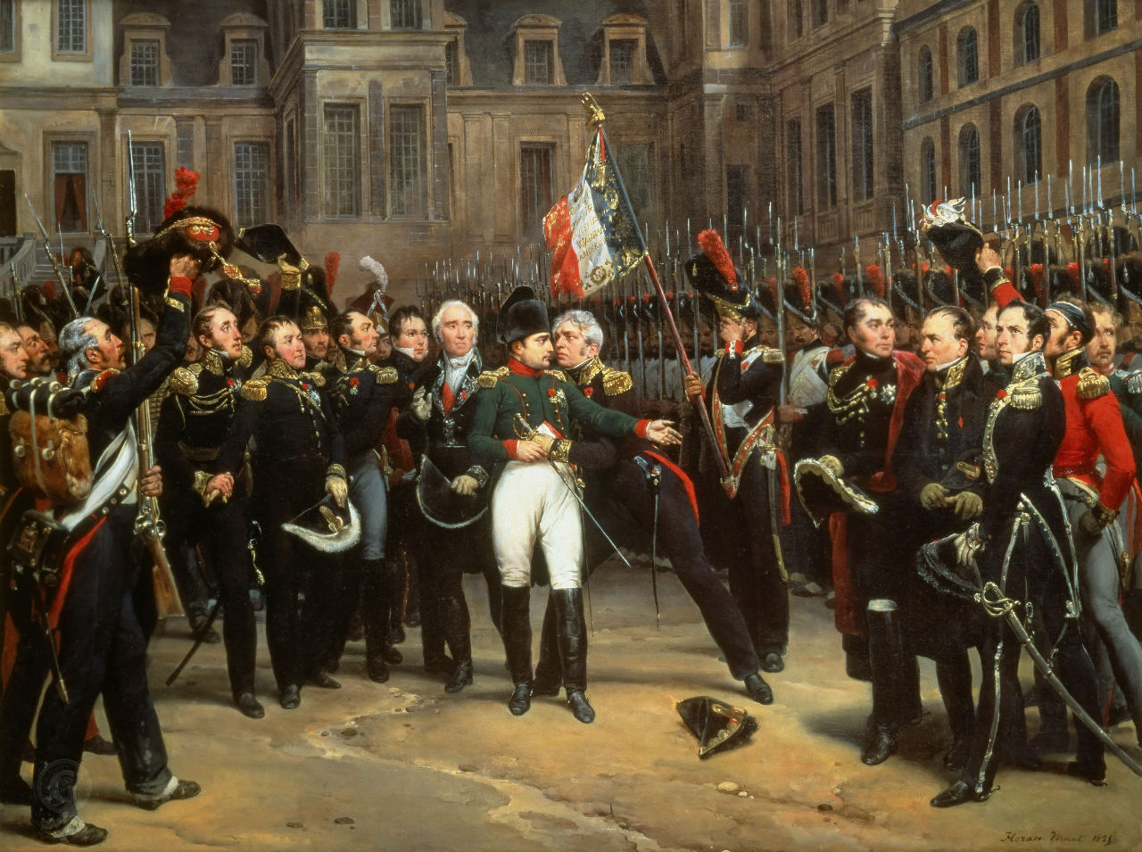 Орас Верне – Прощание Наполеона со своей гвардией в Фонтенбло 20 апреля 1814 - 1824.jpg