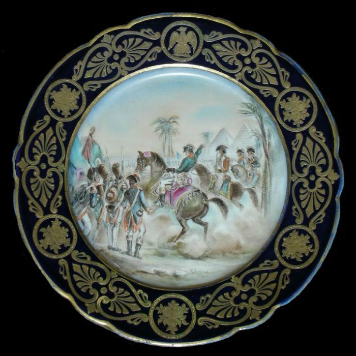 Тарелка декоративная Поход Наполеона в Египет - Франция  - Парижская фарфоровая мануфактура.jpg