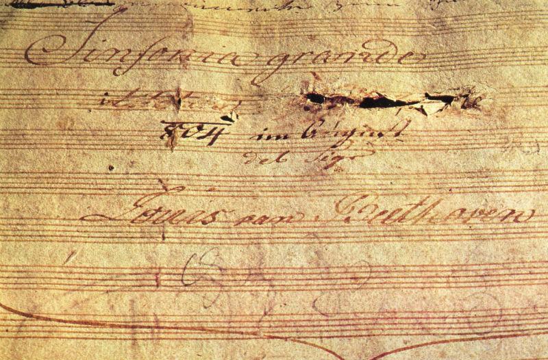 Бетховен - Рукопись Героической симфонии.jpg