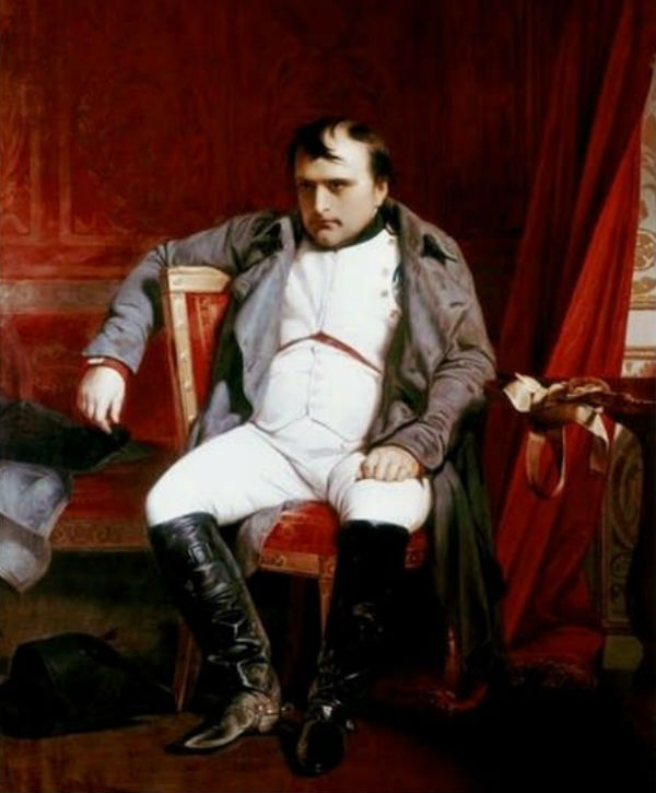 Поль Деларош - Наполеон Бонапарт после отречения во дворце Фонтенбло 1814 -  (1845).jpg