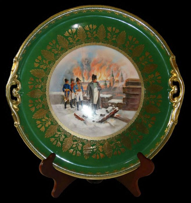 Фарфоровая тарелка Haas & Czjzek Bohemia Napoleon Bonaparte коллекция тарелок винтажный фарфор.jpg