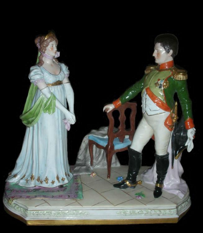 Встреча Наполеона и королевы Луизы - ГерманияТюрингия - Шайбе Альсбах (Scheibe-Alsbach).jpg