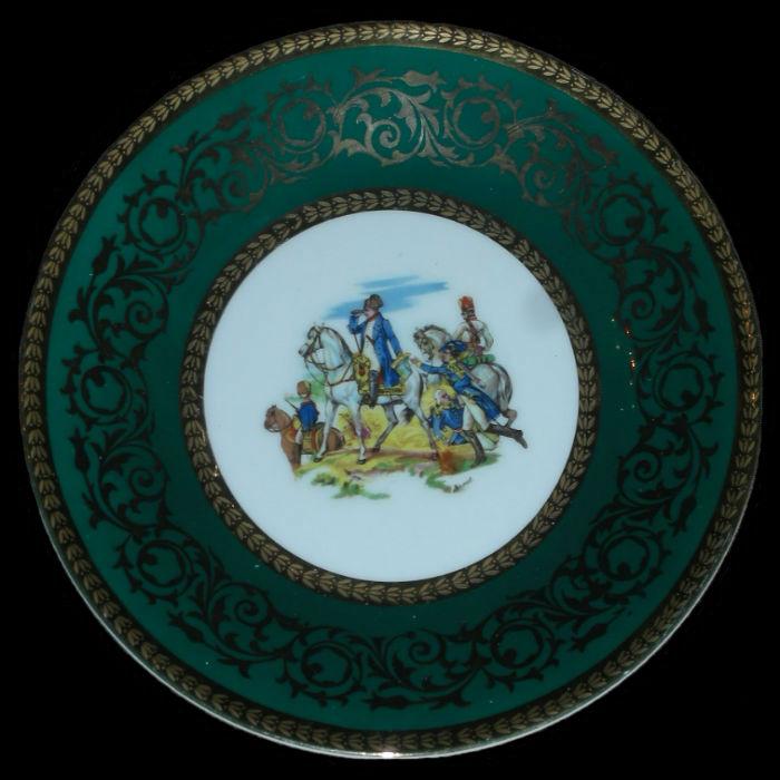 Тарелка декоративная Ваграмская битва - Германия -  STW Bavaria -  вторая половина XX век - 5-6 июля 1809.jpg
