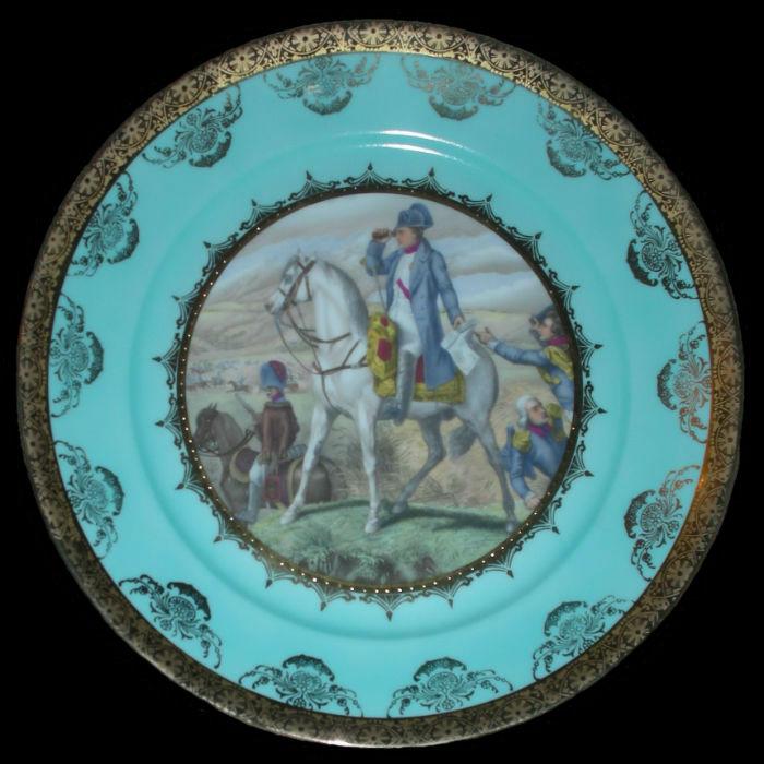 Тарелка декоративная Наполеон в сражении под Ваграмом - Австрия (Royal Vienna) - 5-6 июля 1809.jpg