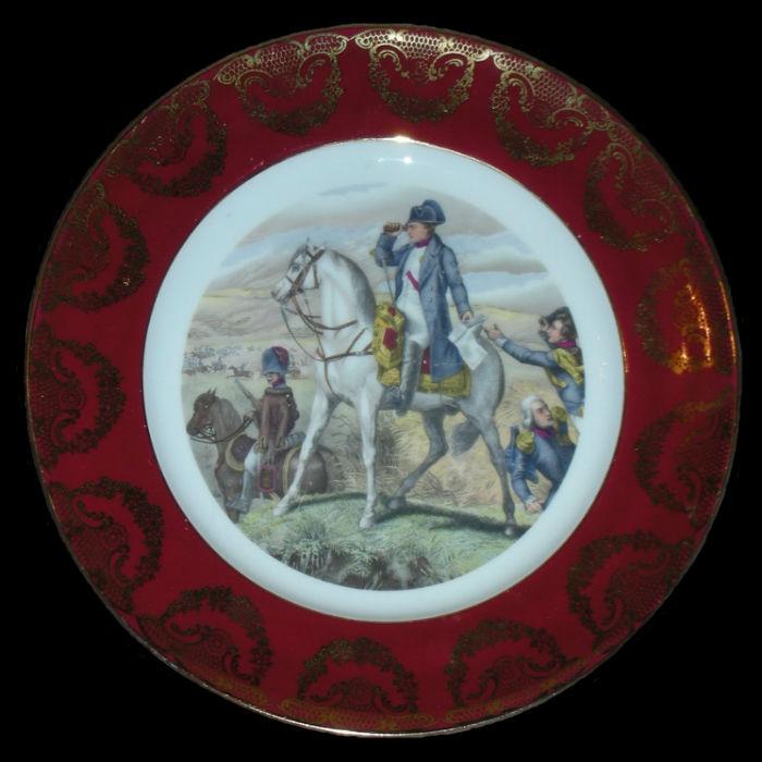 Тарелка декоративная Наполеон в сражении под Ваграмом - Германия - Бавария.jpg