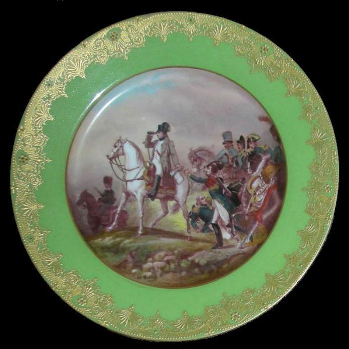 Тарелка декоративная с изображением Ваграмской битвы 6 июля 1809 - Франция (Limoges) - 5-6 июля 1809.jpg