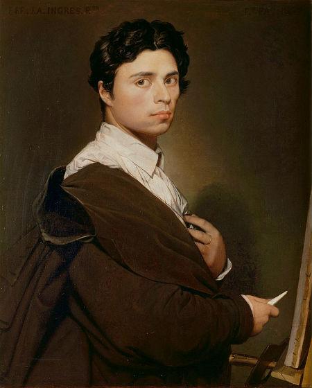 Жан Огюст Доменик Энгр - Автопортрет - 1804 - Музей Конде.jpg