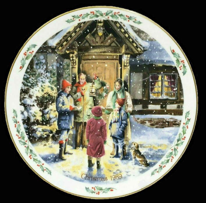 Декоративная рождественская тарелка - Royal Doulton - 1.jpg