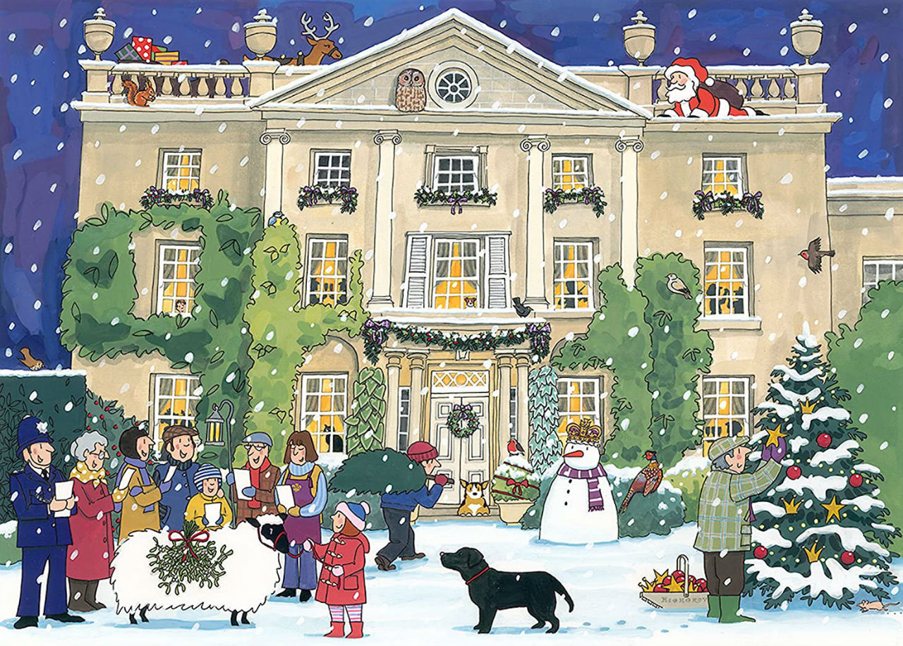 Элисон Гардинер - Highgrove House at Christmas Card Alison Gardiner.jpg