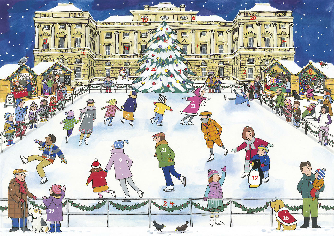 Alison Gardiner - Christmas Ice Skating - Traditional Advent Calendar.jpg