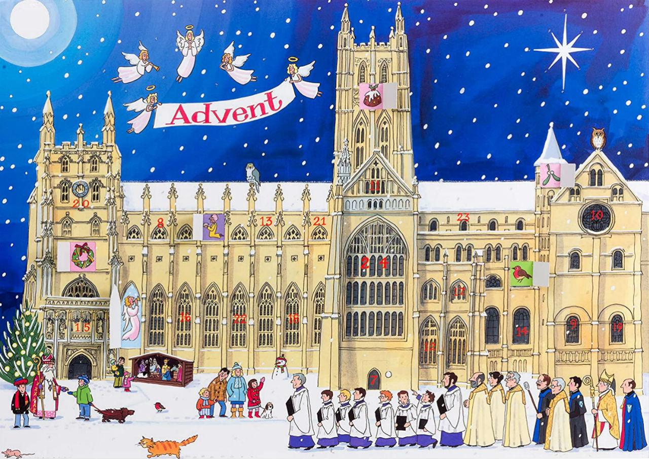 Элисон Гардинер - Большой традиционный адвент-календарь - Рождество в соборе.jpg