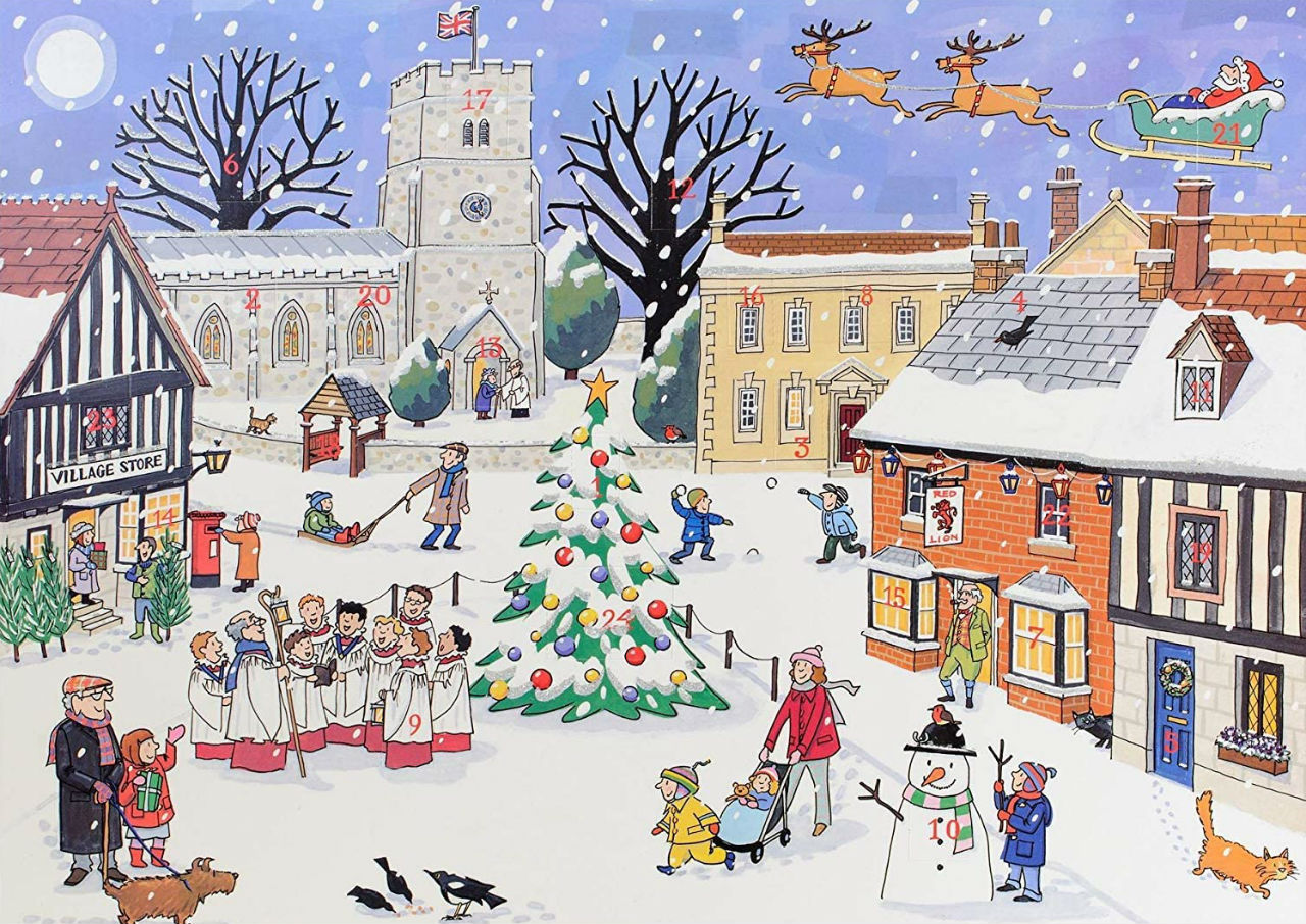 Элисон Гардинер - Большой традиционный адвент-календарь - Рождество в деревне.jpg