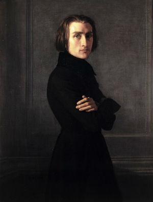 Анри Леманн (Henri Lehmann ) - Портрет Ференца Листа.jpg