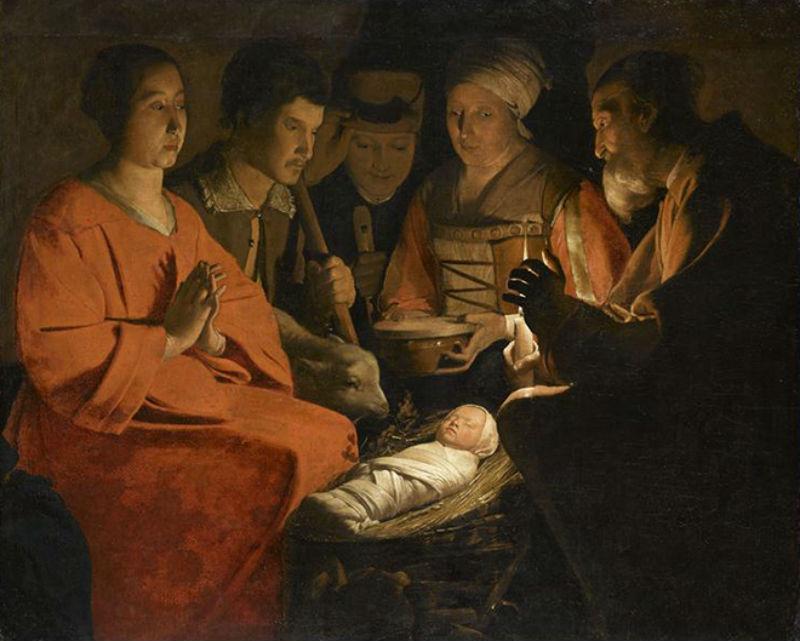 Жорж де Латур - Поклонение пастухов - около 1644 года.jpg