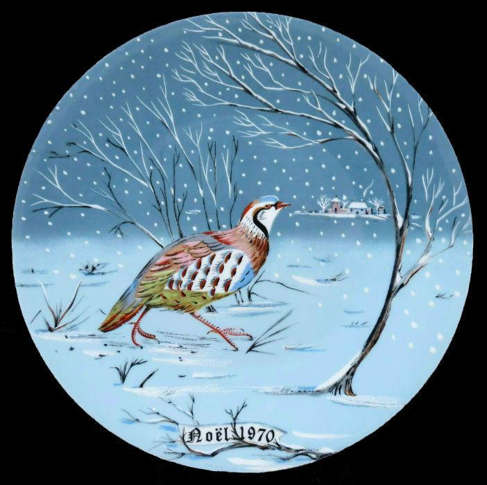 1-Декоративная коллекционная тарелка - Двенадцать Дней Рождества - Куропатка - Франция - Haviland Limoges - Реми Хитроу.jpg
