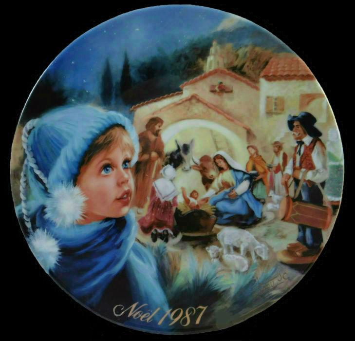 1987 D'Arceau Limoges France Ноэль Рождественская тарелка La Creche Etoilee - автор Жан-Клод Гуиду.jpg