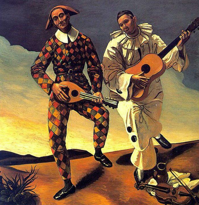 Andrè Derain - Arlecchino e Pierrot - 1924.jpg