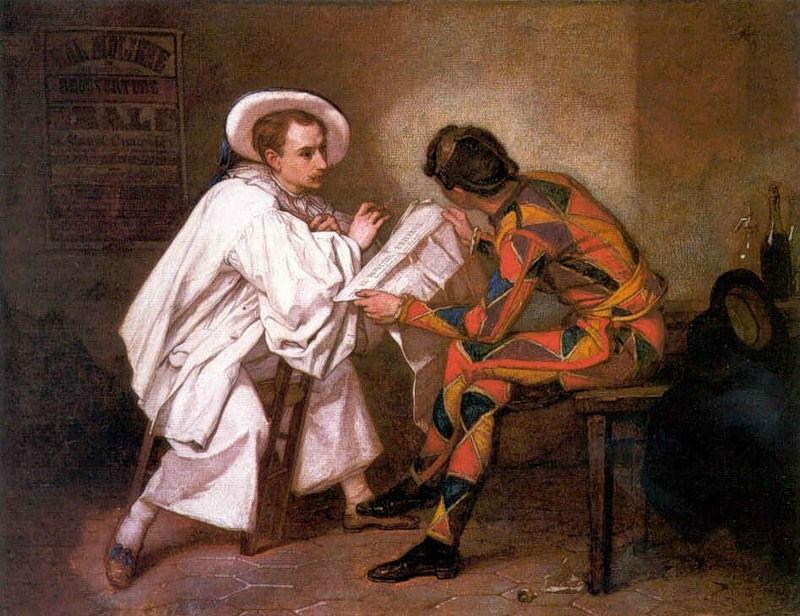 Тома Кутюр - Арлекин и Пьеро - 1857.jpg